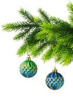 圣诞节装饰查出 免版税库存图片