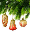 圣诞节装饰查出 免版税库存照片