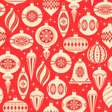 圣诞节装饰样式 免版税库存图片