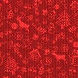 圣诞节装饰样式 免版税库存照片