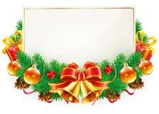 圣诞节装饰框架 库存例证