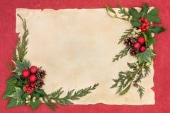 圣诞节装饰框架 库存图片