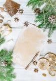 圣诞节装饰框架 免版税图库摄影