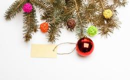 圣诞节装饰概念 您需要装饰圣诞树的一切 准备好圣诞节 圣诞节 图库摄影