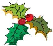 圣诞节装饰槲寄生 库存图片