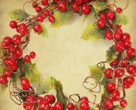 圣诞节装饰樱桃结构  库存照片