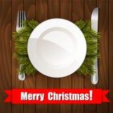圣诞节装饰正餐新家庭想法 库存例证
