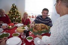 圣诞节装饰正餐新家庭想法 免版税图库摄影