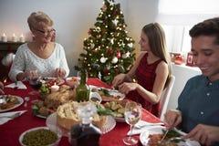 圣诞节装饰正餐新家庭想法 图库摄影