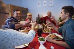 圣诞节装饰正餐新家庭想法 免版税库存照片