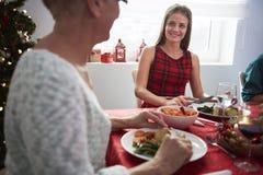 圣诞节装饰正餐新家庭想法 库存图片