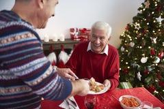 圣诞节装饰正餐新家庭想法 库存照片