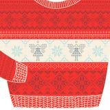 圣诞节装饰毛线衣卡片-丑恶的党毛线衣 库存照片