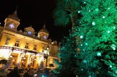 圣诞节装饰法国摩纳哥蒙特卡洛 图库摄影