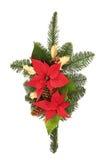 圣诞节装饰浪花 免版税库存照片