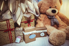 圣诞节装饰玩具熊 库存图片