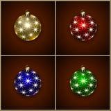 圣诞节装饰球的传染媒介例证 库存照片