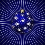 圣诞节装饰球的传染媒介例证 免版税库存图片