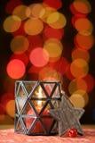 圣诞节装饰生态学木 圣诞树和圣诞节星 库存照片