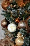 圣诞节装饰生态学木 新年度2015年 库存图片