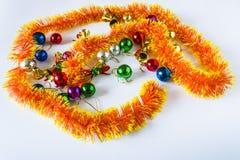 圣诞节装饰生态学木 袋子看板卡圣诞节霜klaus ・圣诞老人天空 库存图片