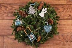 圣诞节装饰生态学木 免版税图库摄影