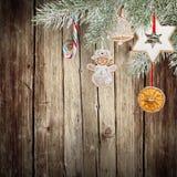 圣诞节装饰生态学木 图库摄影
