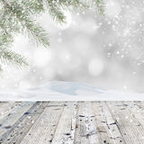 圣诞节装饰生态学木 免版税库存照片