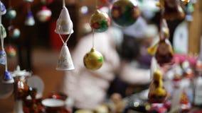 圣诞节装饰生态学木 股票录像