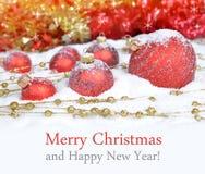 圣诞节装饰生态学木 库存照片