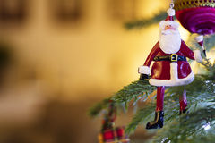 圣诞节装饰生态学木 免版税库存图片