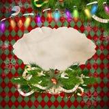 圣诞节装饰生态学木 10 eps 免版税库存照片