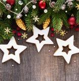 圣诞节装饰用曲奇饼 免版税库存照片