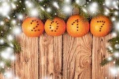圣诞节装饰用桔子 库存图片
