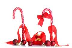 圣诞节装饰用糖果 免版税库存图片