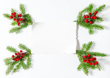 圣诞节装饰白皮书板料舱内甲板放置背景 库存照片