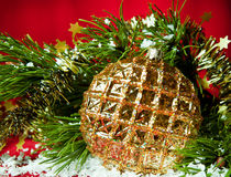 圣诞节装饰的特殊性 库存图片