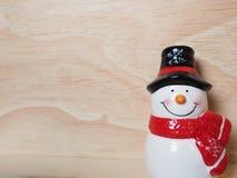 圣诞节装饰的雪人 免版税库存照片