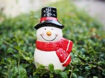 圣诞节装饰的雪人 库存图片