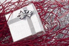 圣诞节装饰礼品红色小 免版税库存照片