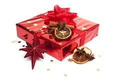 圣诞节装饰礼品 免版税图库摄影