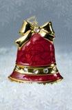 圣诞节装饰红色响铃 免版税库存照片