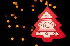 圣诞节装饰红色结构树 免版税库存照片