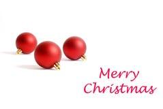 圣诞节装饰红色舍入三 库存图片