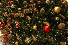圣诞节装饰结构树 图库摄影