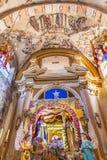 圣诞节装饰耶稣Atotonilco墨西哥壁画圣所  免版税库存图片
