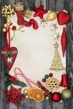 圣诞节装饰背景边界 免版税库存图片
