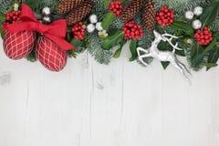 圣诞节装饰背景边界 库存图片