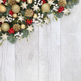 圣诞节装饰背景边界 库存照片