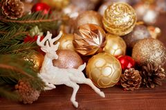 圣诞节装饰背景 图库摄影